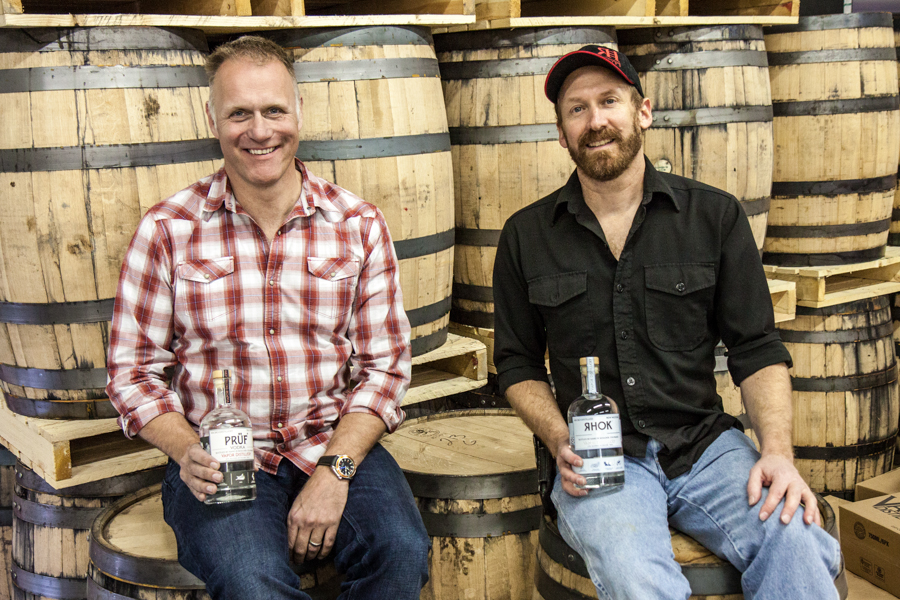 Vapor Distillery owners Alastair Brogan and Ted Palmer. :  : Christopher Davies Photography