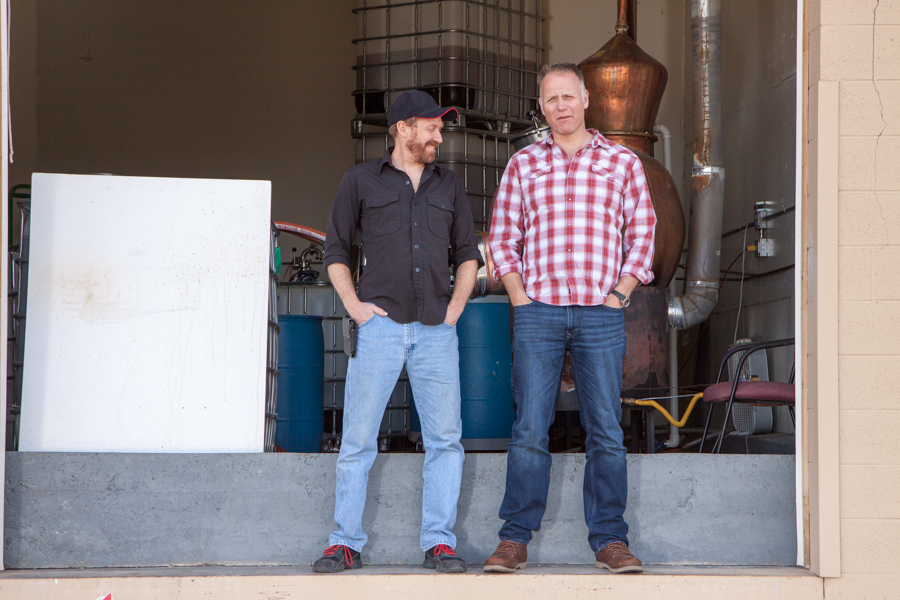Vapor Distillery owners Ted Palmer and Alastair Brogan.  :  : Christopher Davies Photography